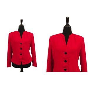 Ellen Kaye | Vintage 1980's Red Plain Blazer